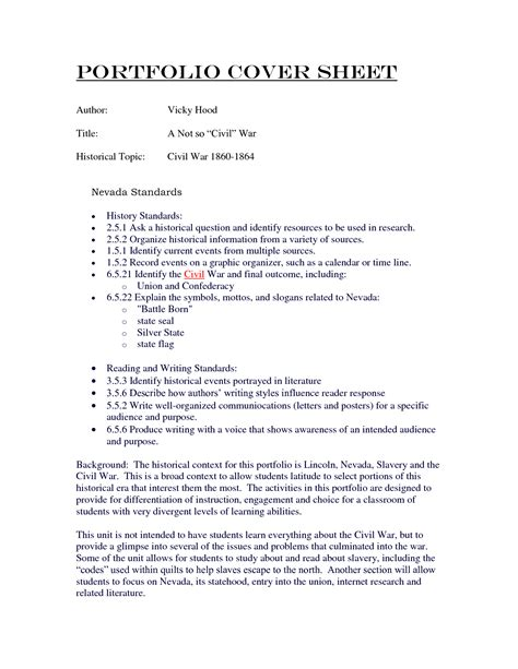 cover letter example for portfolio nursing portfolio cover letter examples drugerreport732