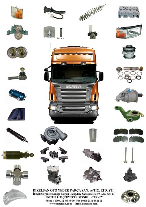 high quality turkish  spare parts  scania trucks