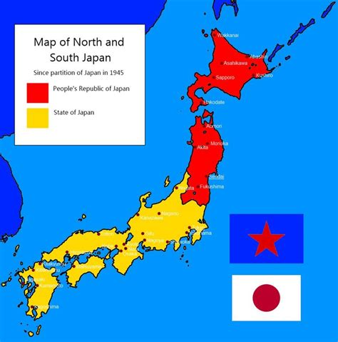 Divided Japan since 1945 | Illustrated map, Imaginary maps ...
