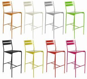 Chaise De Bar Exterieur : chaise de bar facto m tal h 75 cm coquelicot fermob ~ Teatrodelosmanantiales.com Idées de Décoration