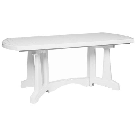 resin outdoor dining table sunrise oblong resin patio dining table