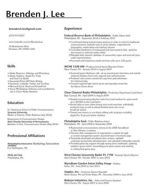 writing skills on resume resume for study