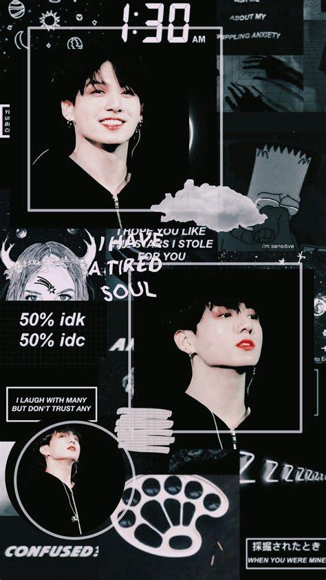 black aesthetic wallpaper jungkook pictures