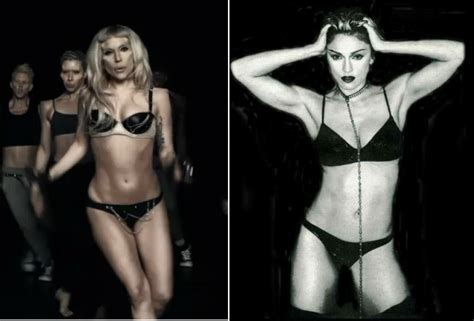 madonna swimsuit how many madonna references can you count in lady gaga s