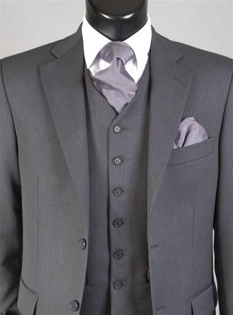 grey lounge suit matching grey waistcoat   french