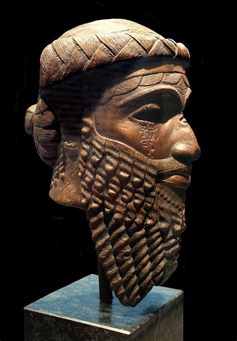 File:Bronze head of an Akkadian ruler, discovered in ...