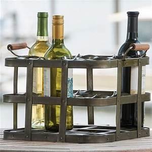 9, Bottle, Metal, Crate, Wine, Rack