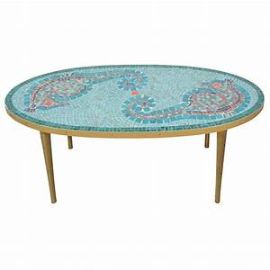 mid century mosaic seahorse cocktail table at 1stdibs With seahorse coffee table