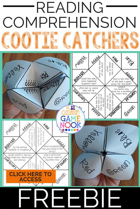 The Classroom Game Nook Using Cootie Catchers For Reading Comprehension