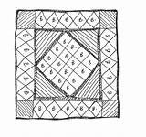 Quilting sketch template