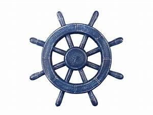 Buy Rustic All Dark Blue Decorative Ship Wheel 12 Inch