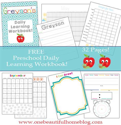 preschool daily learning workbook free printable 187 one 118 | Preschool Daily Workbook Image