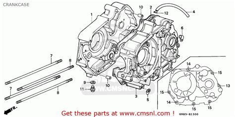 honda c90 cub 1993 crankcase schematic partsfiche