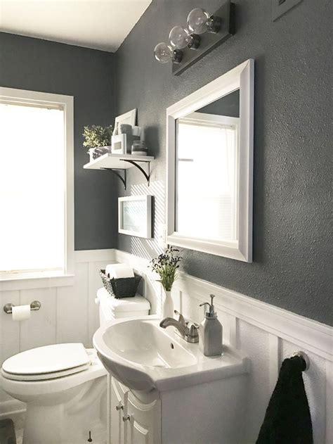 neutral calm bathroom reveal top bathroom