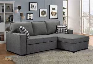 Bellissa, Sleeper, Sectional, With, Storage, In, Knit, Charcoal, By, Urban, Cali, U2014, Wholesale, Furniture