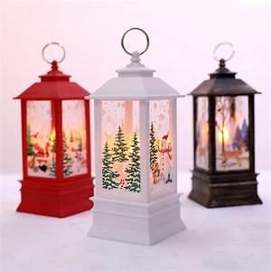 Christmas, Candle, Lantern, Decorative, Lantern, With, Led, Candle, Battery, Operated, Hanging, Lanterns