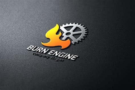 gear engine burning logos designs premium ai