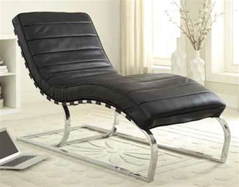 chaise slick slick coaster 500015 chaise black 500015 at homelement com