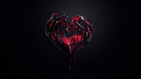 hearts artwork dark background digital art justin