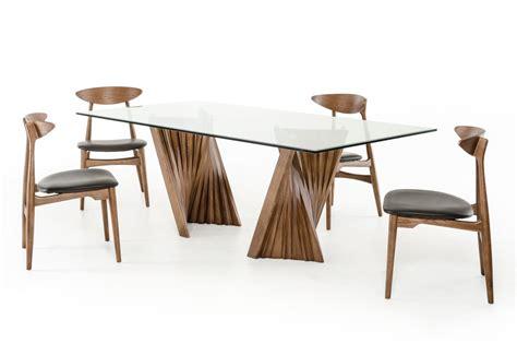 31619 stylish dining table contemporary modrest corbin modern walnut glass dining table modern
