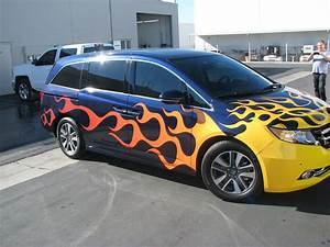 Add some #flames to your #minivan to make you the coolest ...