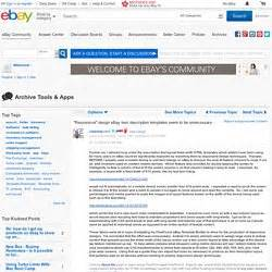 ebay templates pearltrees With ebay item description template