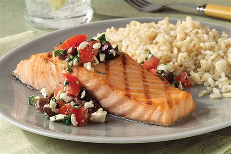 grilled salmon  mediterranean salsa  food  family