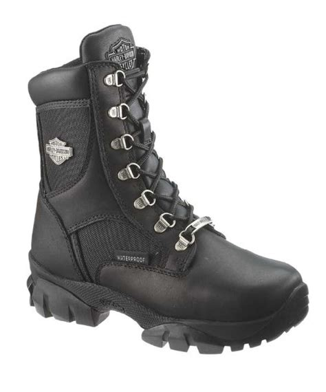 waterproof leather motorcycle boots harley davidson women 39 s hennie waterproof black leather