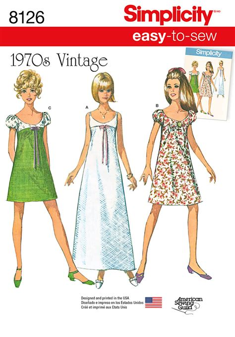Simplicity 8126 Simplicity Pattern 8126 Misses' Easyto