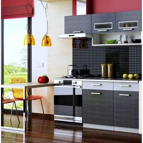 m ier de la cuisine cuisine complète topaze noir 1m60 4 meubles achat
