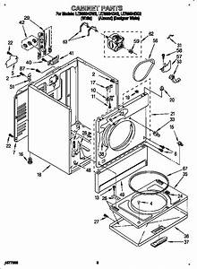 Cabinet Diagram  U0026 Parts List For Model Ler6634bq2 Whirlpool
