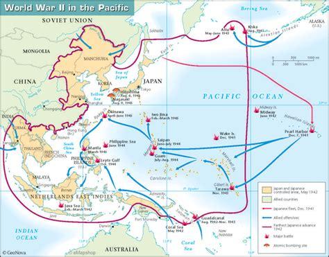 World War II Pacific Theater Map