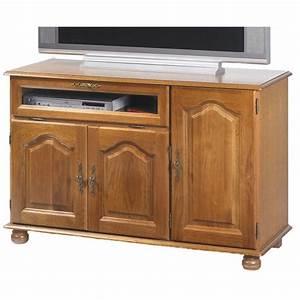 Meuble Tv Hifi : meuble tv rustique chene maison design ~ Teatrodelosmanantiales.com Idées de Décoration