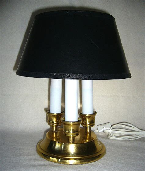 Brass Candelabra Library Desk Lamp With Black Shade Desk