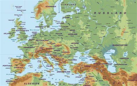 stumme europakarte kraeftig  fluesse gebirge