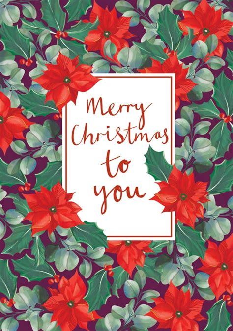 ling design  poinsettias christmas card lnq
