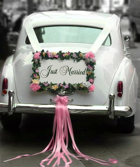 vintage wedding car decoration just married creative ads and more