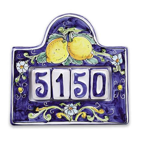 house numbers archives italian pottery outlet