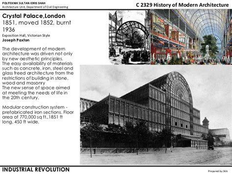 history of modern architecture - lecture 01