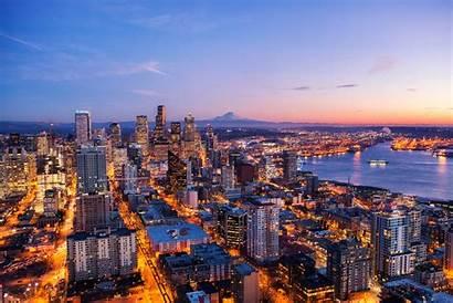 Seattle 4k Night Skyline Wallpapers Laptop 1080p