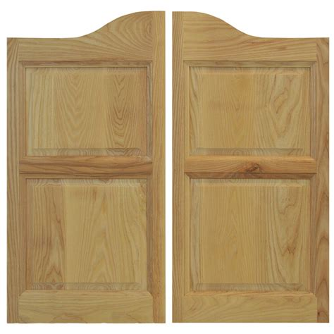 commercial solid ash wooden cafe saloon swinging doors
