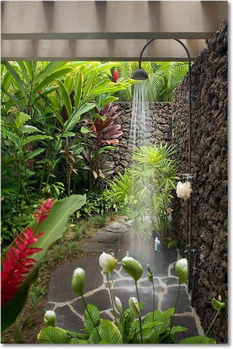 outdoor garden shower designs for the slightly modest