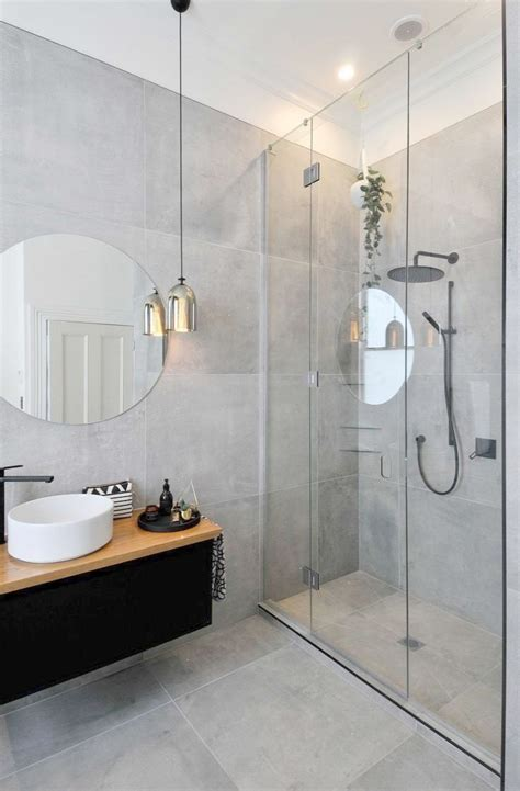 grey bathrooms images  pinterest modern