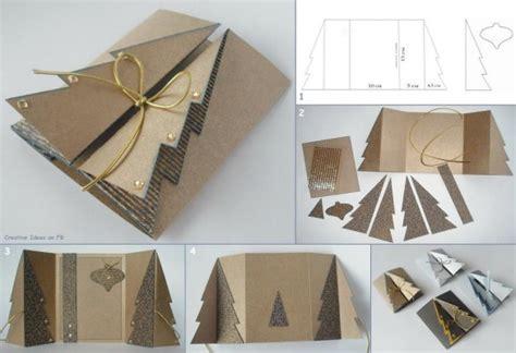 wonderful diy carboard christmas tree greeting card