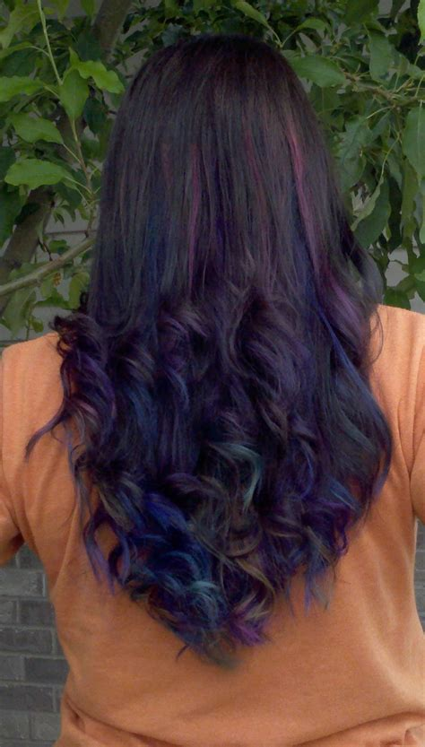 Black And Brown Hair Ideas by Brown Hair With Purple And Blue Hair Colors Ideas