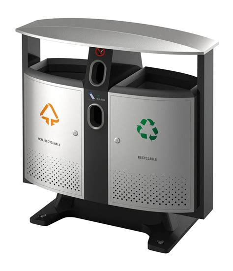 poubelle tri selectif piles exterieur 2x39l