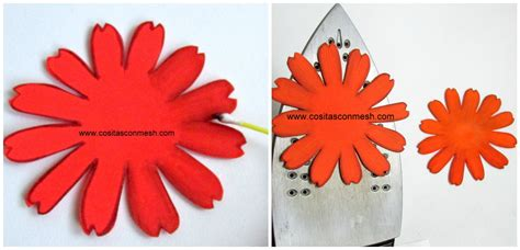 Flores de goma eva paso a paso Imagui