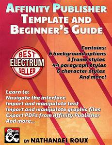 Affinity Publisher Template And Beginner U0026 39 S Guide