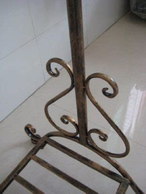 antique bronze clothes coat garment cloth wardrobe clothing hanging rail rails rack racks stand