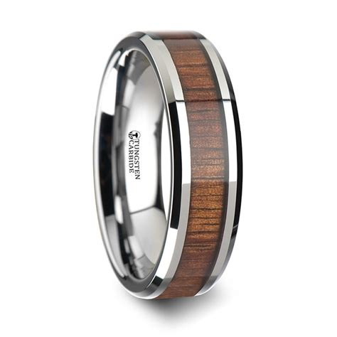 Koa Wood Inlaid Tungsten Carbide Ring With Bevels. Crystal Ball Necklace. Fairy Necklace. Rondelle Necklace. Pink Gold Jewellery. Element Platinum. Simon G Bracelet. Black Sapphire. Monochrome Watches